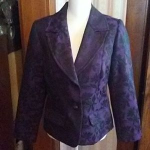 Studio 1940 Jackets & Coats - Black & deep purple blazer jacket' medium'